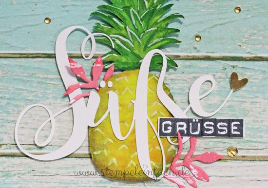 Karte mit Ananas selber machen