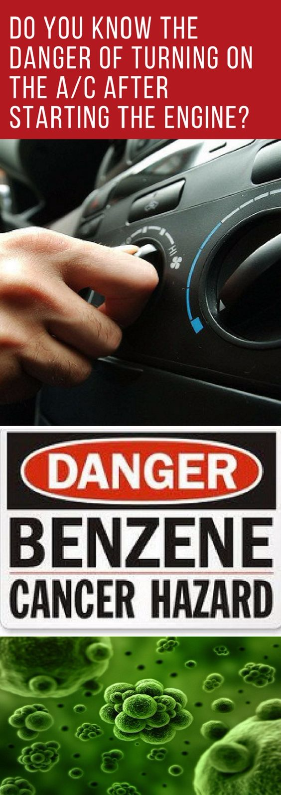 Do you know the danger of turning on the A/C after starting the engine?