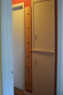 DIY Wooden Ruler Growth Chart