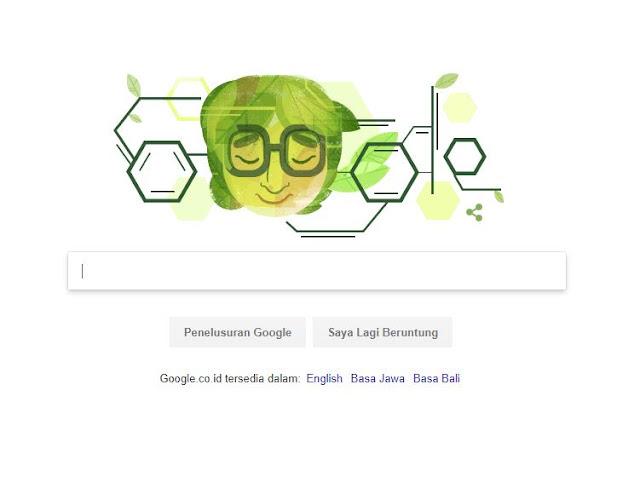 google doodle hari ini Asima Chatterjee