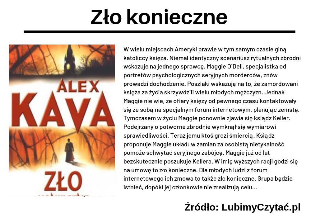 Alex Kava, Zło konieczne, TOP 5, Marzenie Literackie