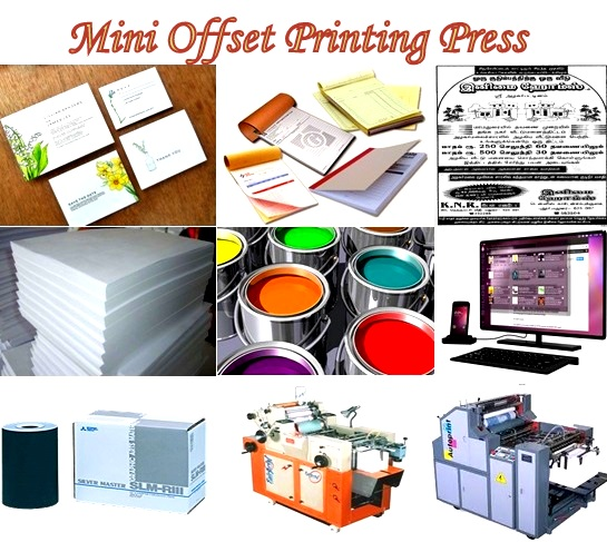Project profile 8 mini offset printing press cr business solutions bill book bit notice advertisements visiting cards all are required in large this can be done in a mini offset printing machine reheart Gallery