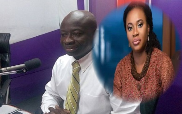 Lawyer Kwame Adofo (L) and EC Boss Charlotte Osei (R)