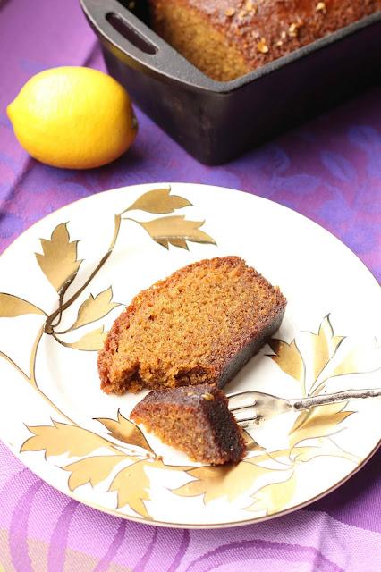 cake citron nappé de sirop