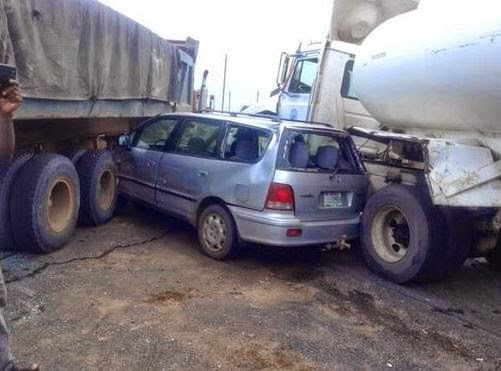 Multiple accidents took place today on Lagos Express