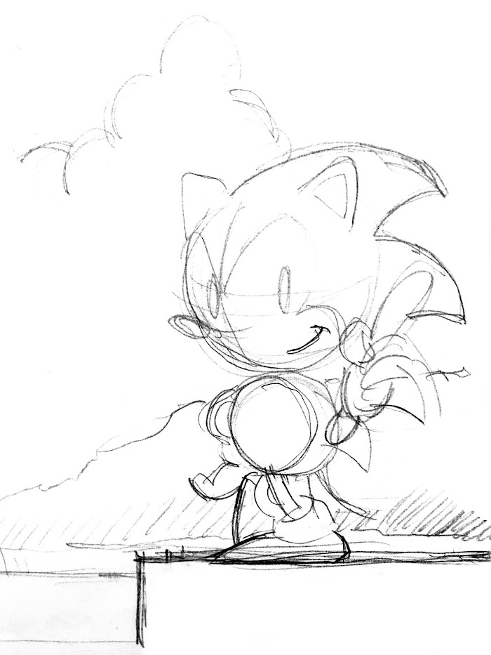 naoto ohshima a scribble drawn in the translations sonic notes