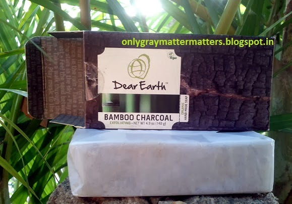 Dear Earth Bamboo Charcoal Exfoliating Organic Soap