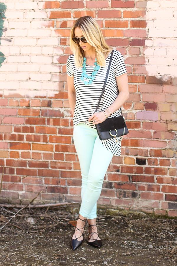 mint pastel skinny jeans