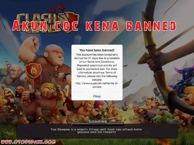 Akun coc kena banned