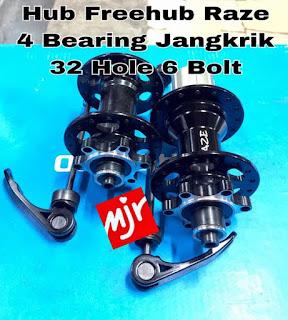 Hub Freehub Raze 4 Bearing Jangkrik 32 Hole 6 Bolt MURAH RINGAN