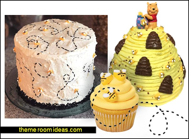 Bumblebee Icing Decorations  bee themed party - bumble bee decorations - Bumble Bee Party Supplies - bumble bee themed party - Pooh themed birthday party - spring themed party - bee themed party decorations - bee themed table decorations - winnie the pooh party decorations - Bumblebee Balloon -  bumble bee costumes