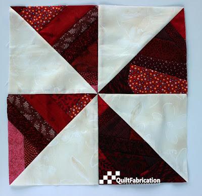 red scrap pinwheel