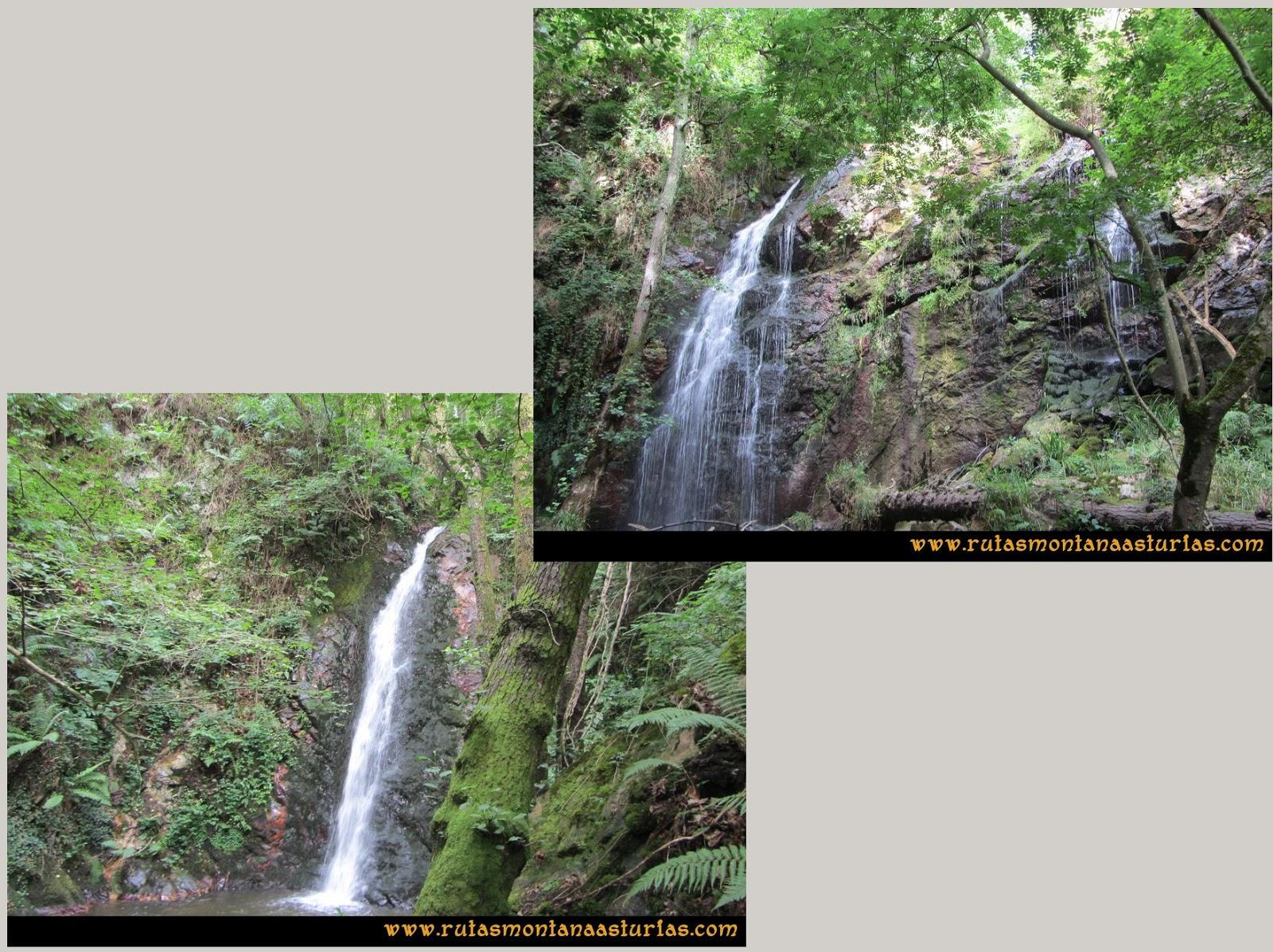 Ruta Cascadas Guanga, Castiello, el Oso: Segunda y tercera cascada