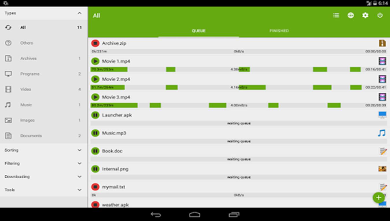 تحميل تطبيق انترنت داونلود مانجر للاندرويد Advanced Download Manager