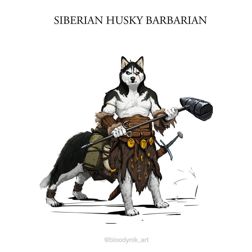 Artist Creates Impressive Illustrations Of Battle Dogs From Different Dog Breeds