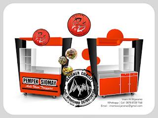 desain dan produksi gerobak pempek palembang