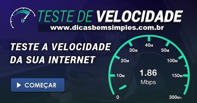TESTE DE VELOCIDADE da Internet | Velocímetro