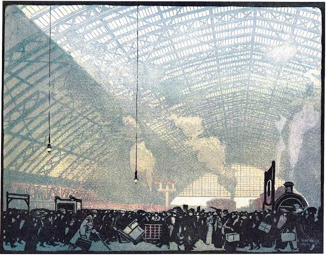 E.A.Verpilleux art 1927 train station