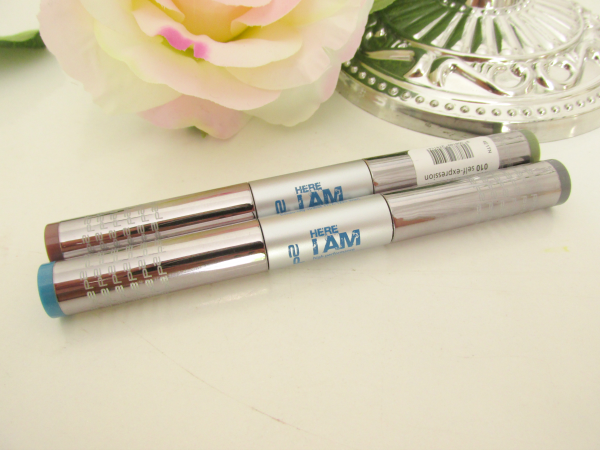 p2 Here I am High Performance Metallic Duo Eyeshadows 010 self expression und 030 neo seduction