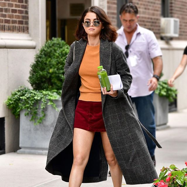 How to Stay Warm and Chic Wearing a Mini Skirt in Winter — Selena Gomez Style
