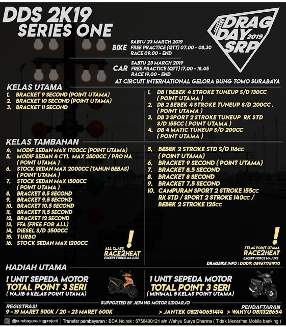 Drag Day 2019 Surabaya Racing Project (DDS 2K19 Series 1)