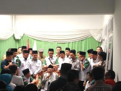 KH. Ma'ruf Amin Datangi Rumah Kemenangan Ma'ruf Amin (KMA) Lampung
