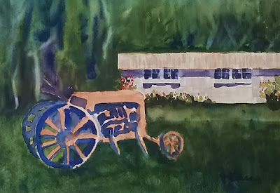 Old Tractor - Watercolor - JKeese