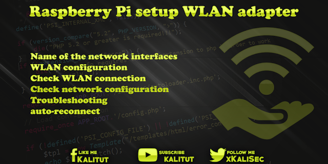 Raspberry Pi setup WLAN adapter
