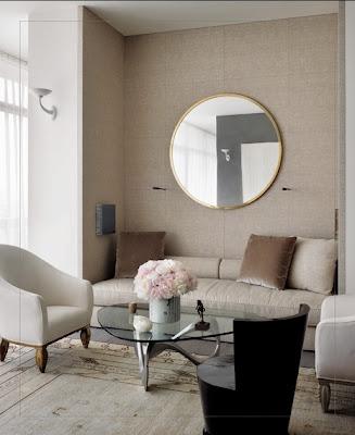 chic small and cozy living room via belle vivir blog