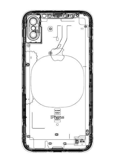 An alleged iPhone 8 schematic leaked design hints vertically aligned dual-lens camera, no rear touch ID and wireless charging.