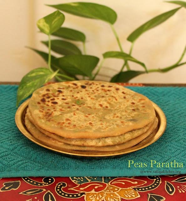 images of Peas Paratha / Matar Paratha / Batani Paratha /Green Peas Stuffed Parathas