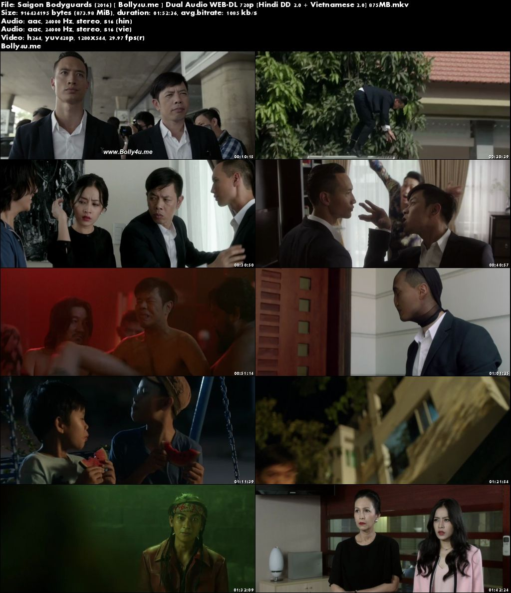 Saigon Bodyguards 2016 WEB-DL 350MB Hindi Dual Audio 480p Download