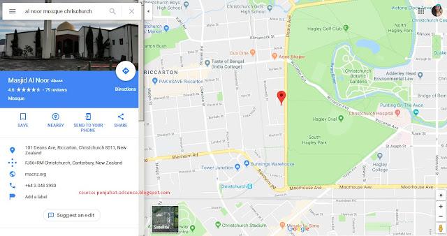 Foto dan Lokasi Masjid Al Noot Chrischurch google map