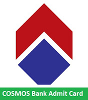 COSMOS Bank Admit Card