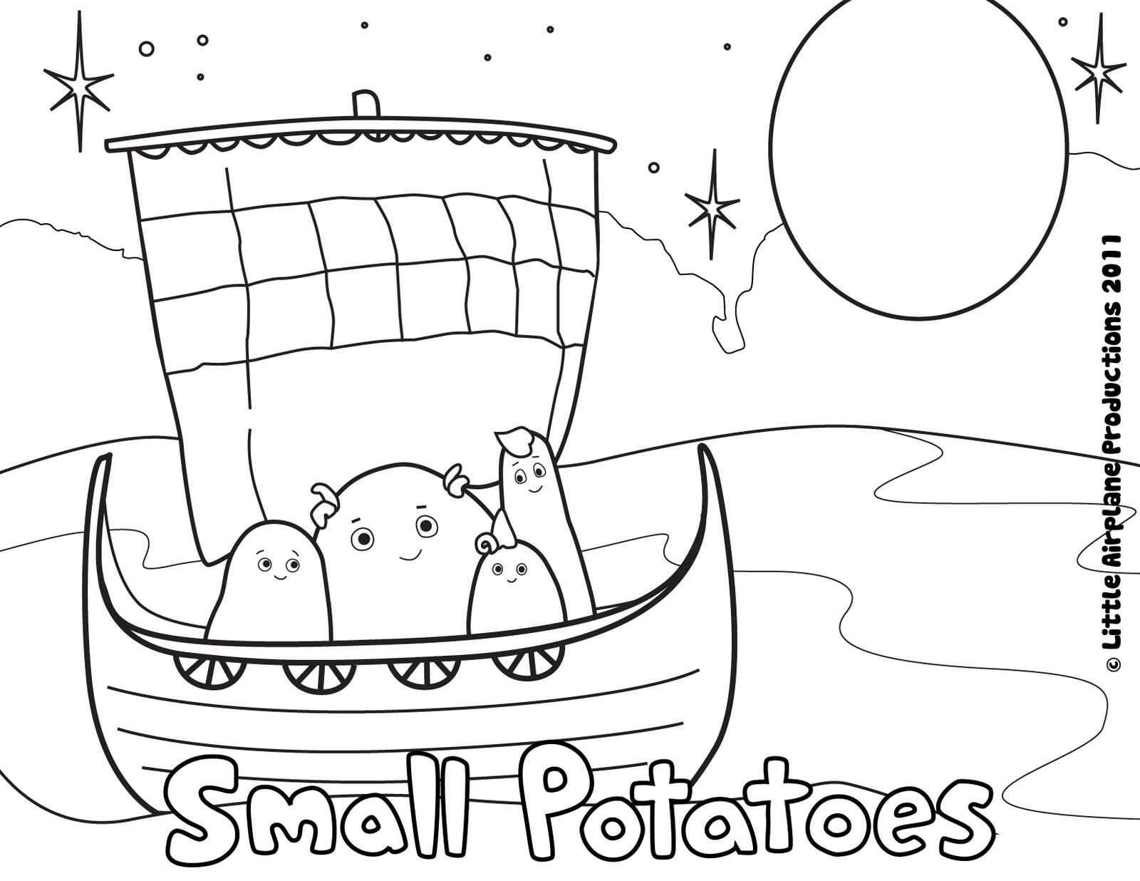 erica kepler small potatoes coloring pages!
