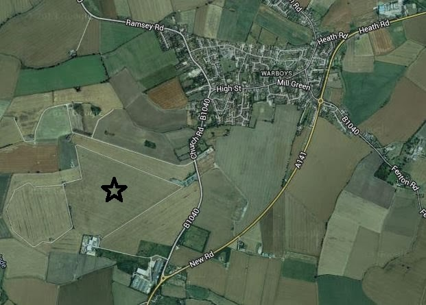 Aerial view of former location of RAF Warboys.