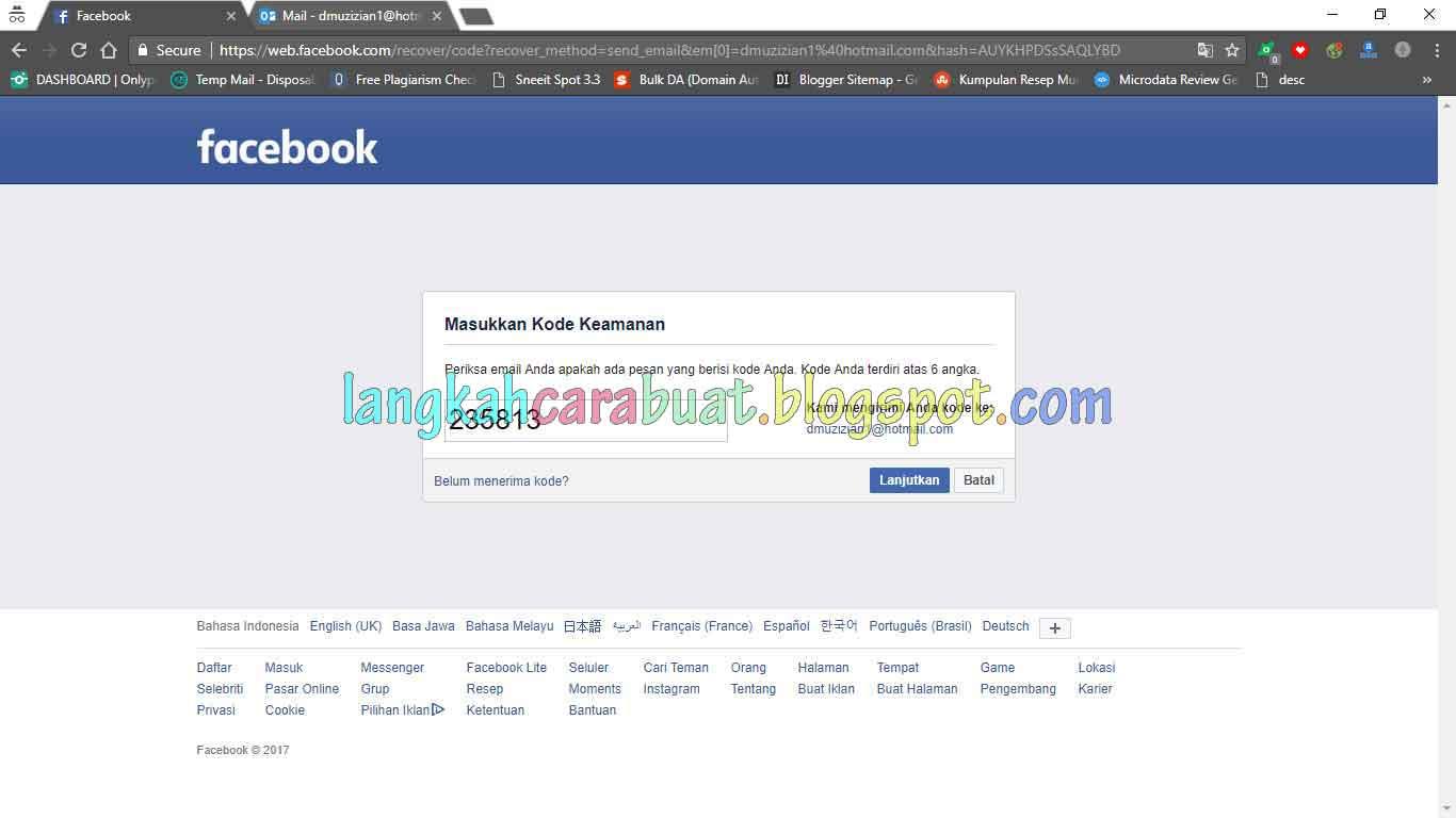 Cara Memulikan Akun Fb Jika Lupa Kata Sandi Dan Nomor Kontak Yang Di Pakai Sudah Tidak Aktif Vitallimi