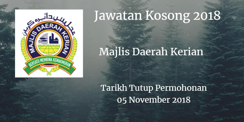 Jawatan Kosong MDK 05 November 2018