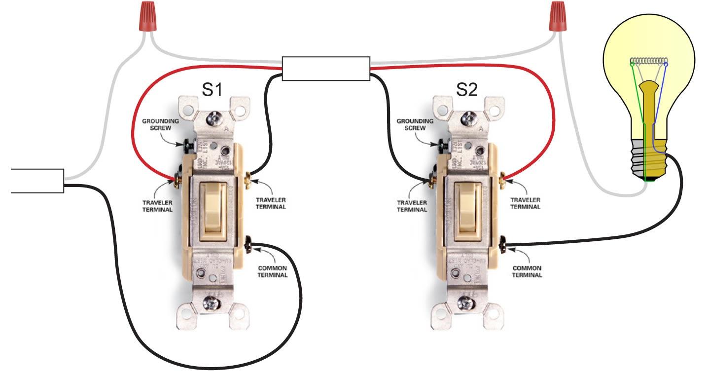 3 Way Light Switch Wiring Diagram  Electrical Blog