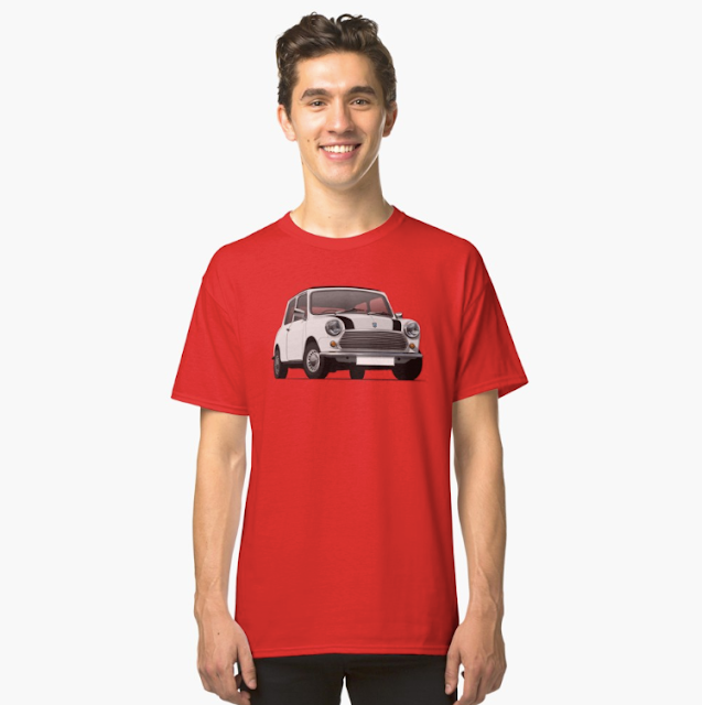 Morris Mini klassikko t-paita valkoinen