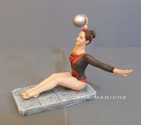 statuina personalizzata ginnasta artistica ritmica danza donna orme magiche