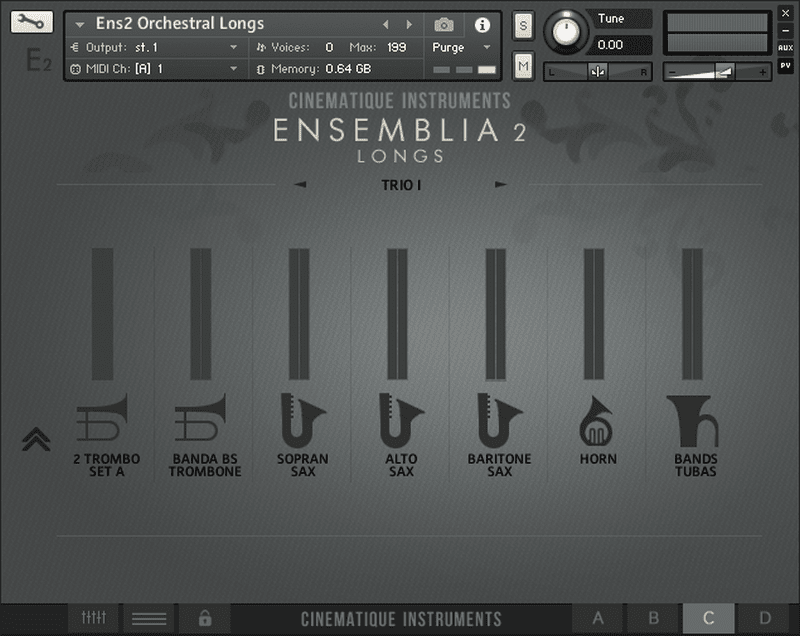 CINEMATIQUE INSTRUMENTS - Ensemblia 2 Orchestra KONTAKT Library longs