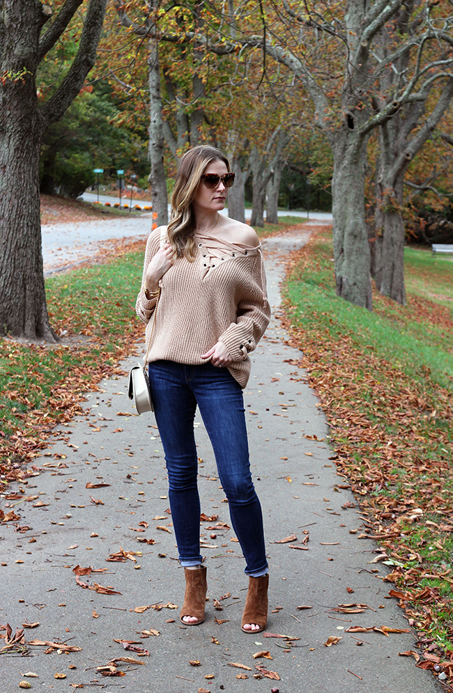 cea2364ad219 Have you been loving the lace up trend? I linked this sweater, and some of  my other lace up favorites below.