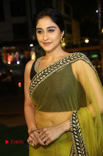 Actress Regina Stills in Green Saree at Vivaha Bhojanambu Restaurant Launch  0079.JPG