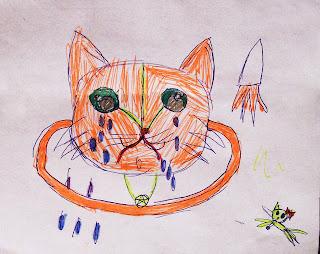 детский рисунок кот Морфей - кото - планета, проект 100 дней