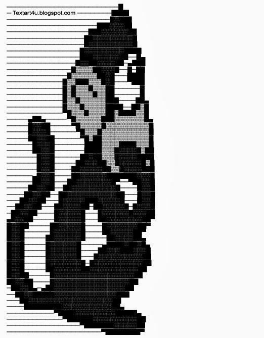 Thinking Monkey Copy Paste Text Art Cool ASCII Text Art 4 U