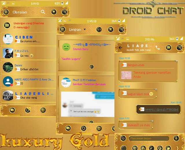 BBM Mod Droid Chat! v10.2.14 Luxury Gold Apk