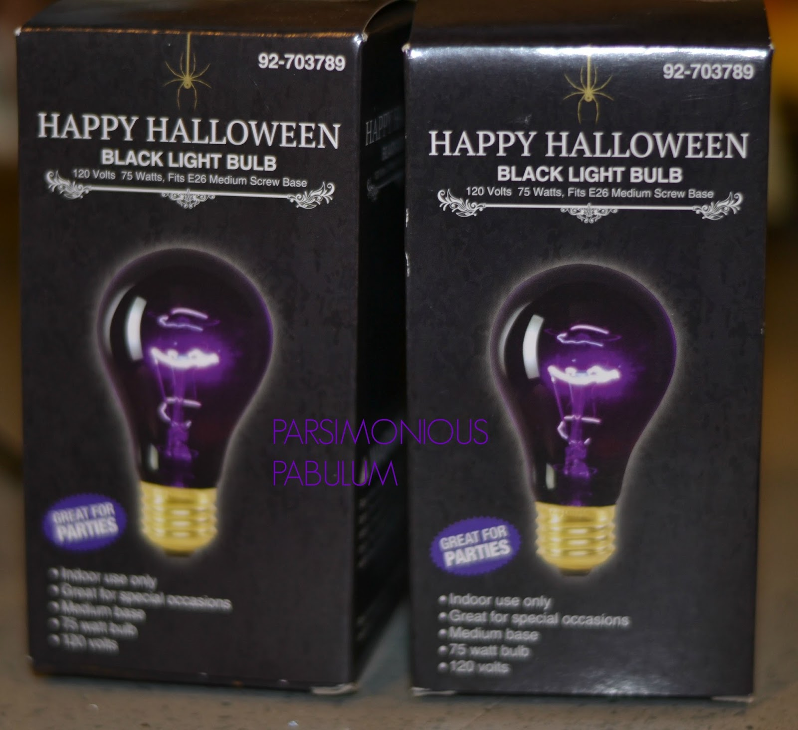 And Not A Black Light Bulb Like These I Found At The 99¢ Store. Although  These Are Supercool For Halloween, They Do Not Have UV Which Is Required To  Make ...