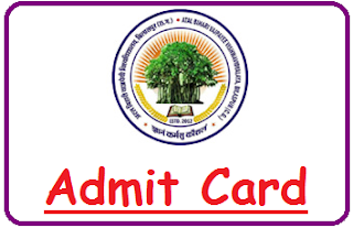BU Bilaspur Admit Card 2019