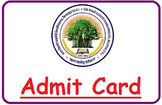 BU Bilaspur Admit Card 2020